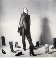 Assorted Leather Boots and Shoes for women and men (Vogue magazine, photo by Willie Christie, 1980)