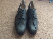 Grey leather brogues (mens)
